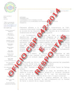 CLIQUE PARA ABRIR - OFICIO 042/2014 CSP