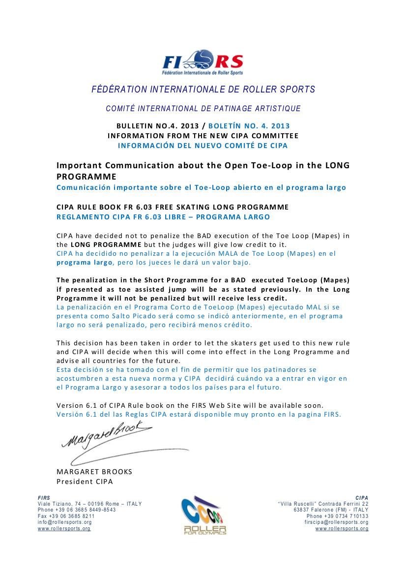 New CIPA Bulletin No.4. 2013 - Eng-Sp
