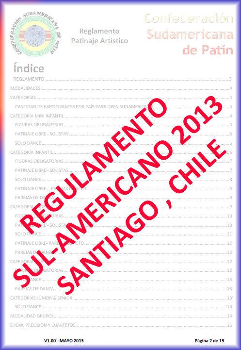 REGULAMENTO SULAMERICANO 2013
