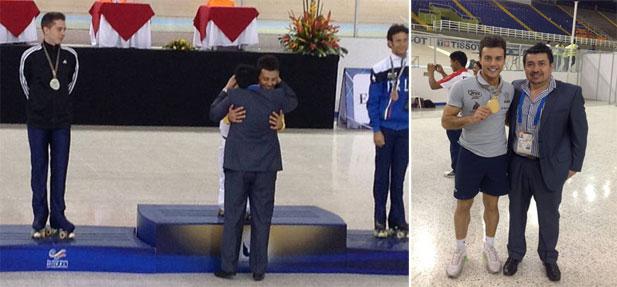 1° Vice-Presidente da FIRS - Armando Quintanilla - entrega premiação ao campeão Marcel Stürmer