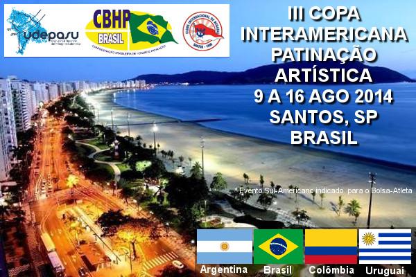 Evento de Patinação Artística - 9 a 16 de Agosto de 2014 - Santos, SP