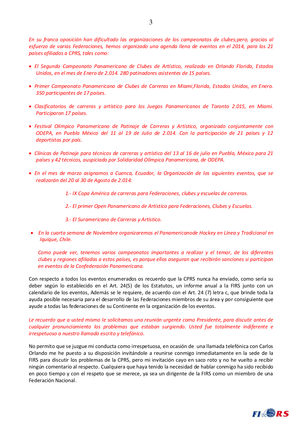 Carta del Presidente FIRS-3-4