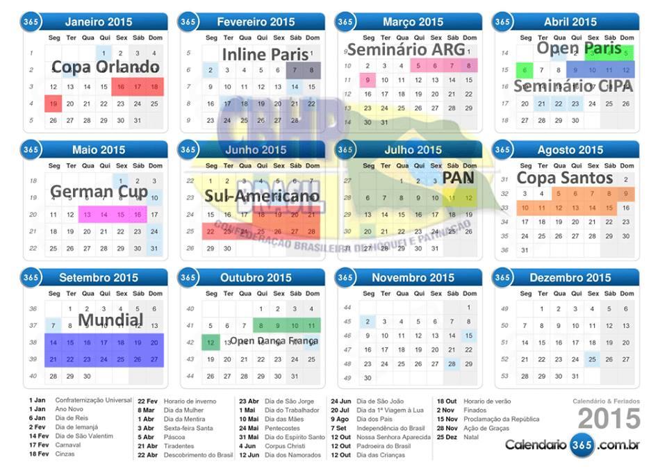 Calendário Internacional 2015