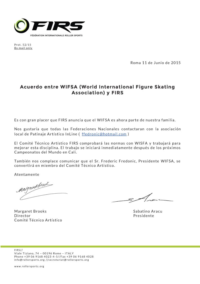 Acuerdo WIFSA FIRS  (espanol)