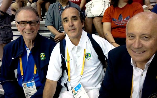 CARLOS ARTHUR NUZMAN - Presidente do Comitê, Organizados RIO2016 , MOACYR JR - Presidente da Confederação Brasileira de Hóquei e Patinação e ROBETO MAROTTA - Secretário Geral da FIRS - Federação Internacional de Roller Sports