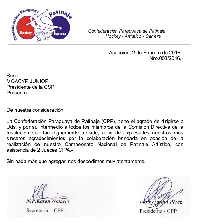 Nota CD 003-2016, a Moacyr Junior