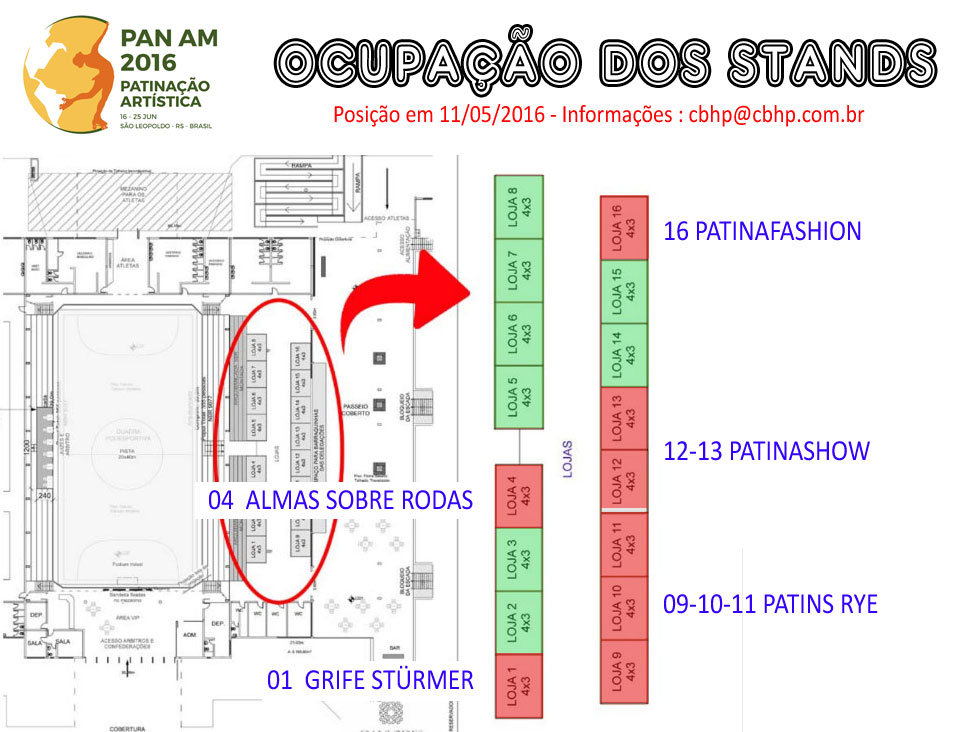 Mapa dos Stands 11/05/2016