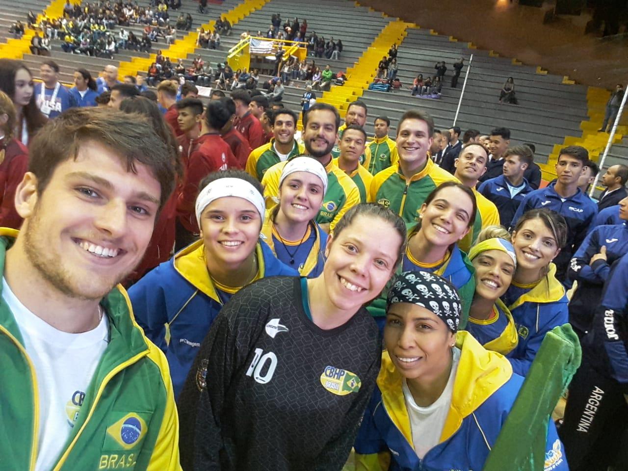 Seleção Brasileira na Cerimônia de Abertura do Campeonato Pan-Americano de Hóquei Sobre Patins 2018