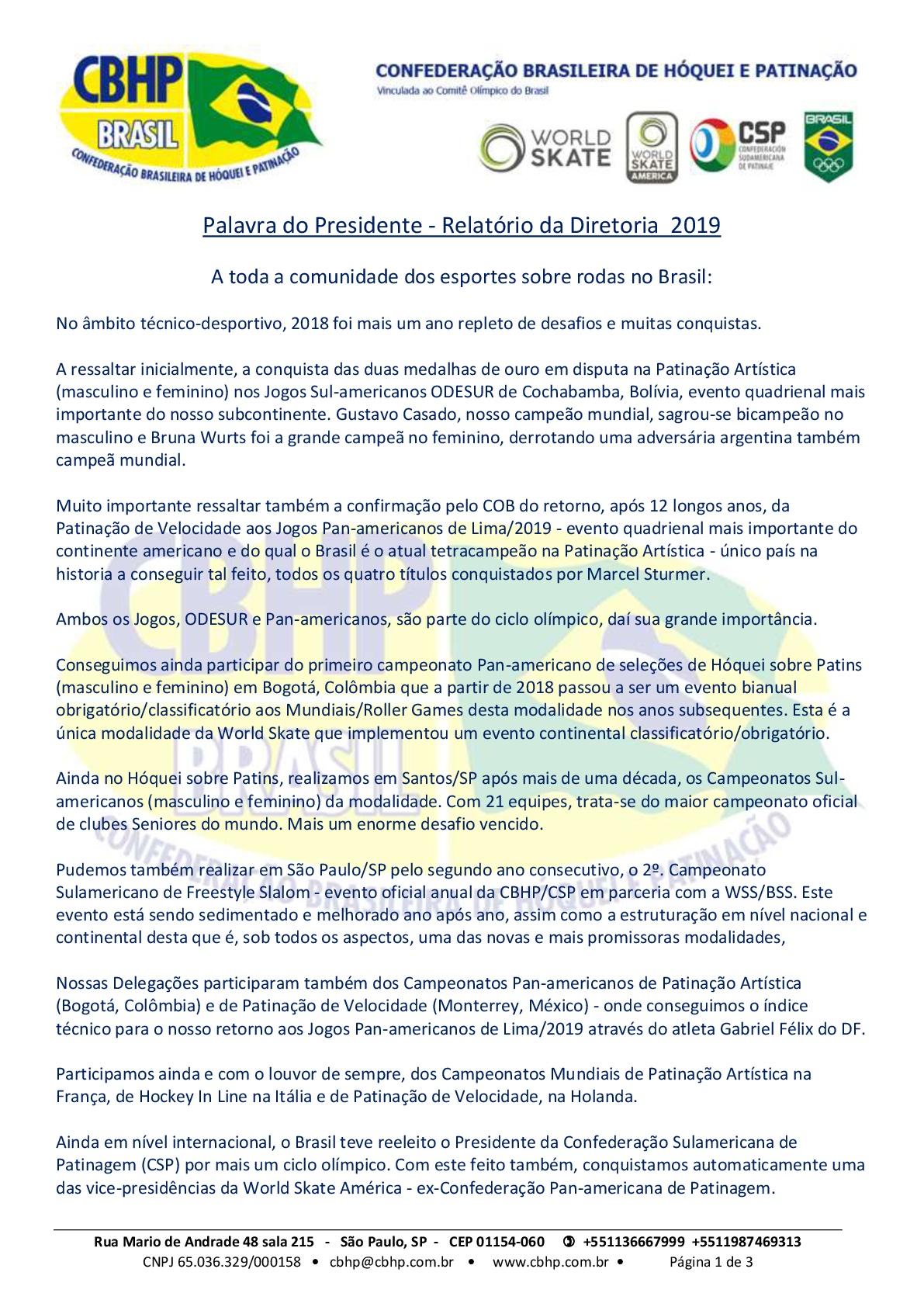 Palavra do Presidente 2019 - Página 2 de 3